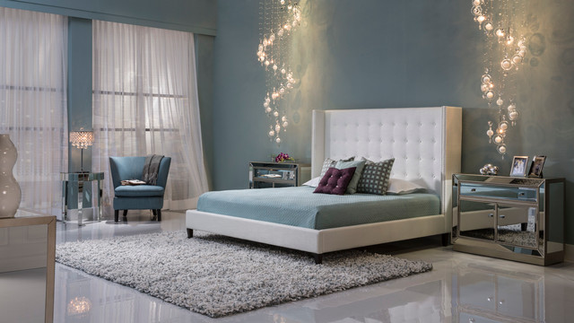 Bedroom Sets El Dorado the duval bedroom - modern - bedroom - miami -el dorado furniture