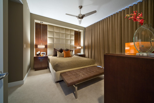 How did you create the wall behind the bed for Modern bedhead design