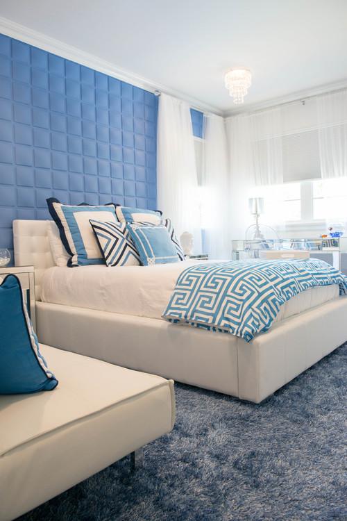 contemporary bedroom Panele 3D   trójwymiarowe dekoracje