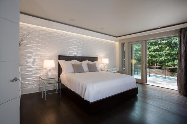 Modern bedroom makeover contemporary bedroom atlanta by mosaic