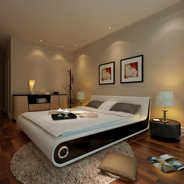 Limitless 3d interior design modern bedroom for 3 bedroom interior design