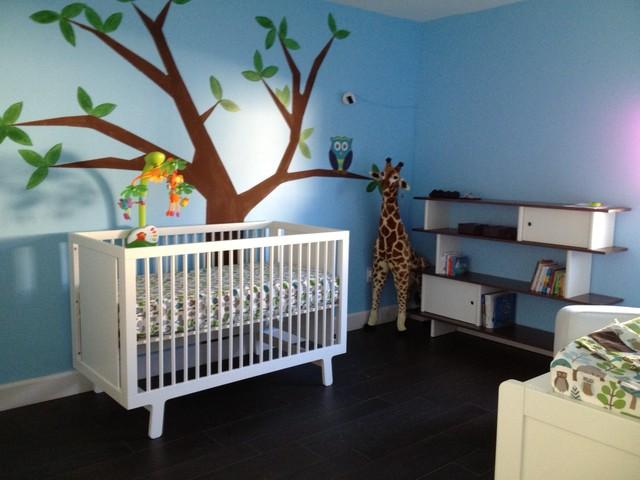 modern boy nursery owl on a wishing tree modern bedroom miami