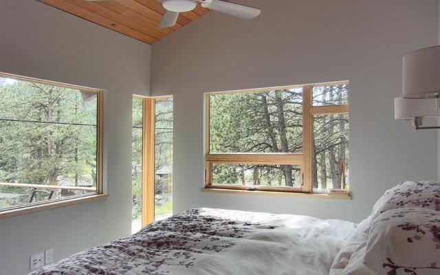 Modern Cabin Renovation contemporary-bedroom