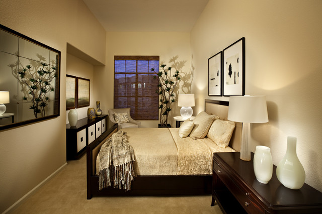 Modern classic bedroom modern bedroom - Ideas decoracion paredes dormitorios ...