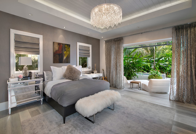 Modern Coastal Home - Beach Style - Bedroom - miami - by ...