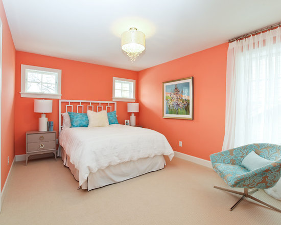 peach paint color bedroom design ideas pictures remodel