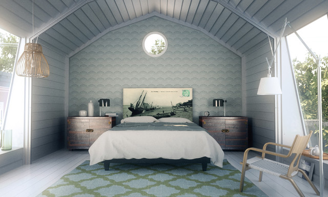 Modern Country Bedroom - Eclectic - Bedroom - New York - by NOYO ...