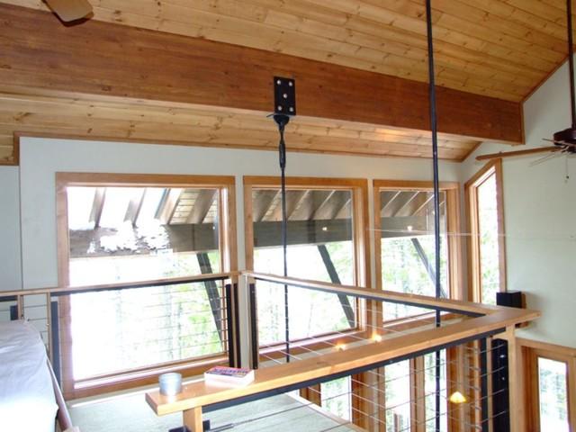 Modern Craftsman Lakefront Cabin traditional-bedroom