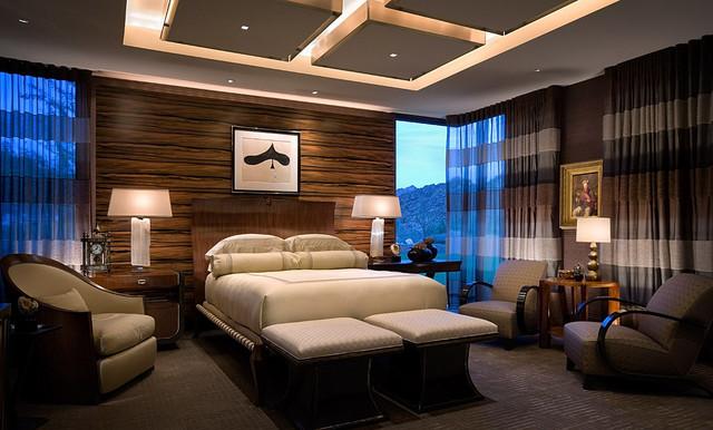 Modern Desert Home Contemporary Bedroom Orange