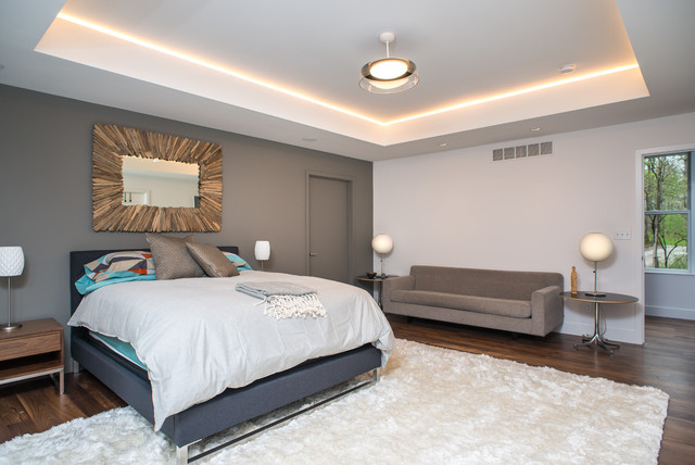 Modern Farmhouse Contemporary Bedroom detroit by Forward Design Build
