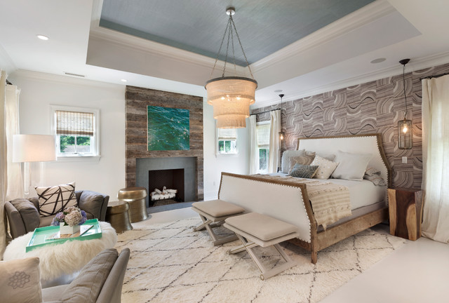 Modern Farmhouse Master Bedroom Transitional Bedroom Other By Bluewater Home Builders