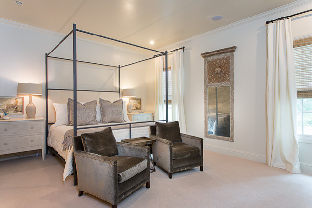 Modern French in Tarrytown traditional bedroom. Modern French in Tarrytown