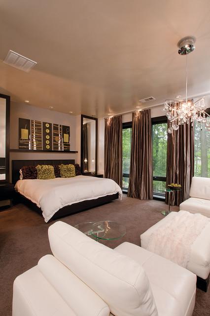 modern glam modern bedroom atlanta by burns