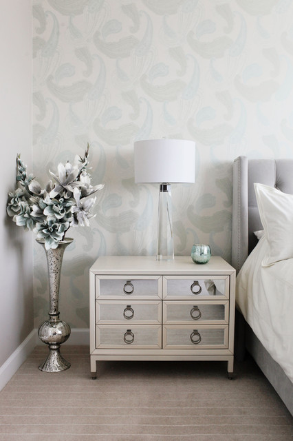 modern glam luxury condo transitional bedroom other