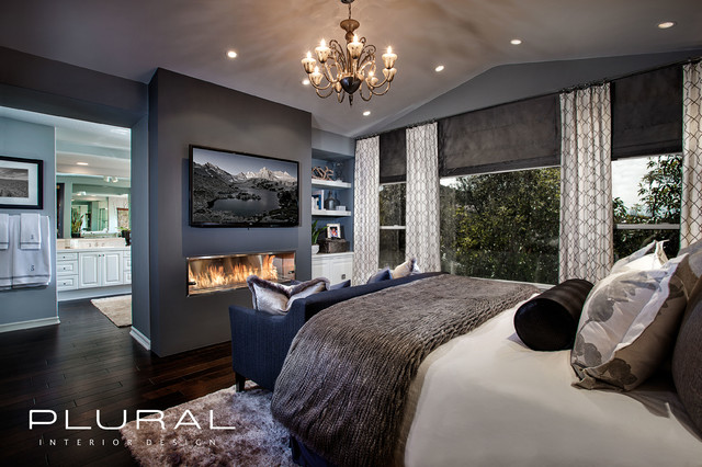 Modern Glam Master Retreat Contemporary Bedroom Orange County By Plural Design Inc