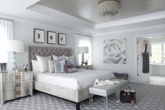 Modern glam cl sico renovado dormitorio nueva york - Houzz dormitorios ...