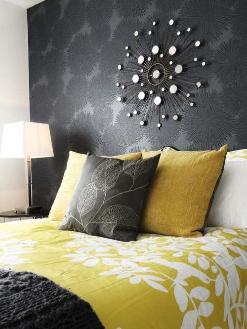 Design curves grey and yellow one of the best color for Bedroom ideas yellow and grey