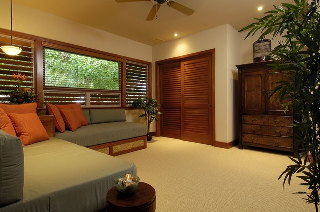 Modern Hawaii Beach Cottage Tropical Bedroom