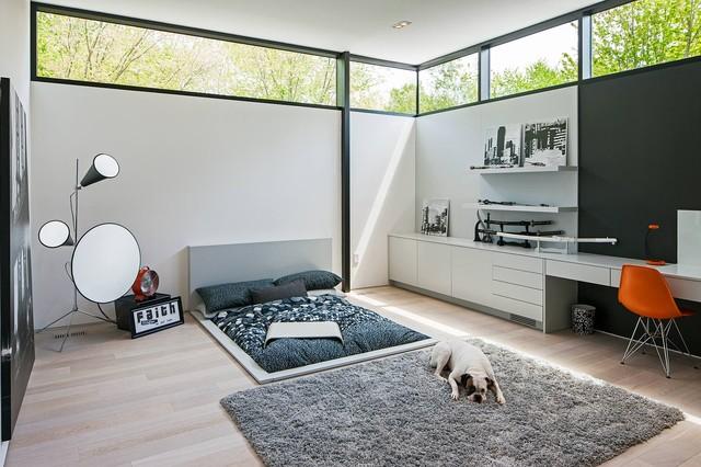 Modern Home Bedroom modern home in oakville ontario - scandinavian - bedroom - toronto