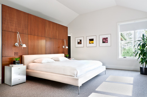 Where can I purchase the wood wall panels behind the bed?