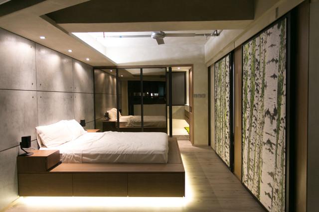 Modern Industrial Bedroom Modern Bedroom Hong Kong