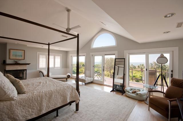 Modern Island Beach Home Master Bedroom Tropical