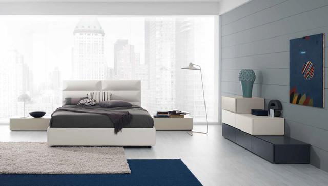Modern Italian Platform Bed Prisma 02 by Spar - $2,025.00 - Moderno ...