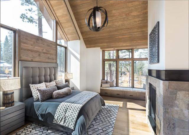 Modern Lodge Rustikal Schlafzimmer San Francisco Von