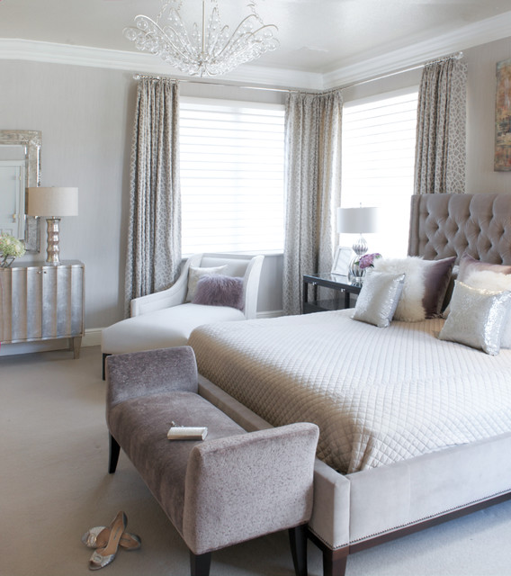 Modern Luxe Bedroom Transitional Bedroom Other Metro By Susan Glick Interiors
