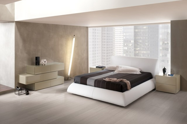 Modern master bedroom platform bed dali 2 modern bedroom new york by mig New modern masters bedroom