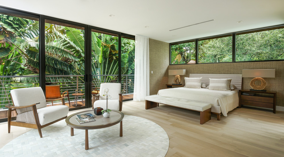 Modern Master Bedroom Sliding Glass Doors Contemporary Bedroom Miami By American Impact Windows Doors Llc