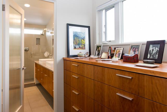 Modern Master Suite modern master suite closet - modern - bedroom - seattle -