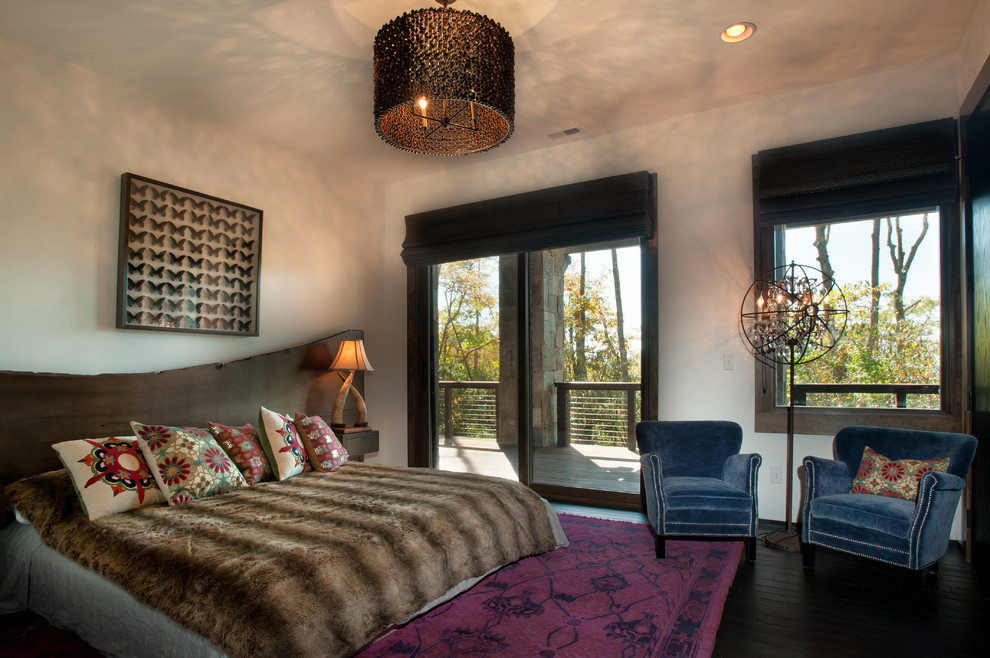 Example of a mountain style bedroom design in Charlotte