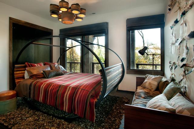 Modern Mountain Home rustic-bedroom