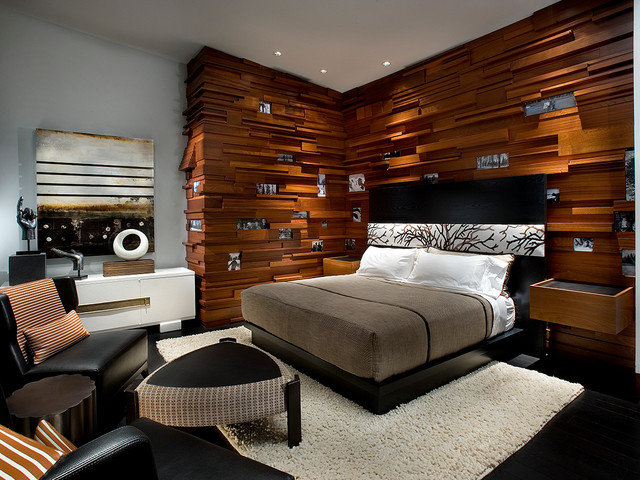 Modern Mountain Style   Martis Camp Contemporary Bedroom