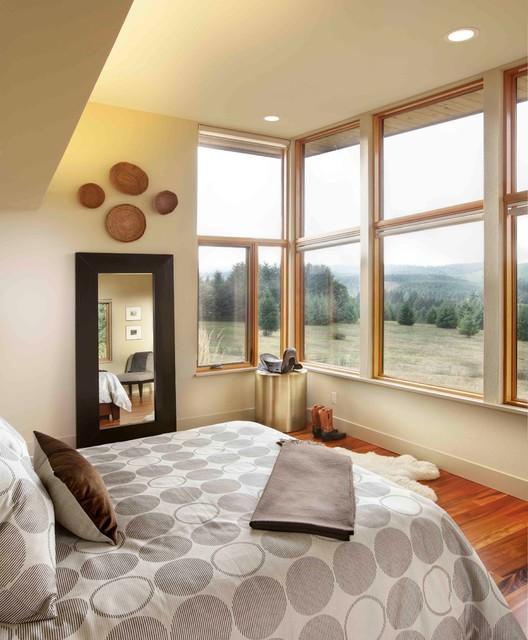 Contemporary Master Bedroom: Modern Portland New Construction
