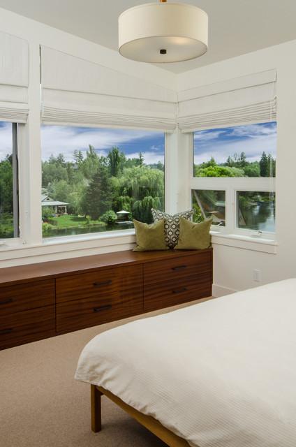 Modern Riverfront modern-bedroom