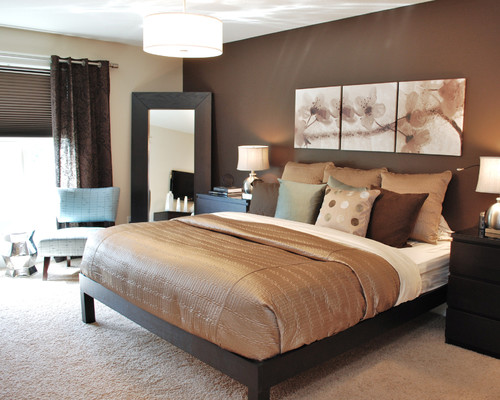 Master's Bedroom,Brown Room,White Chairs, Room Inspiration