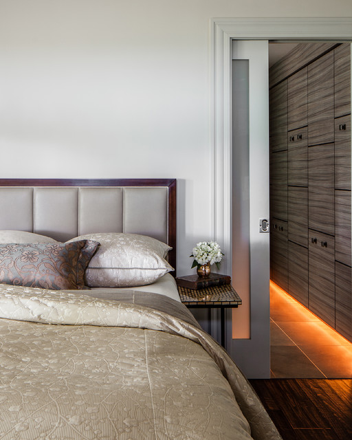 Modern rustic contemporary bedroom san francisco by applegate tran interiors - Beautiful contemporary bedroom design ideas for releasing stress at home ...