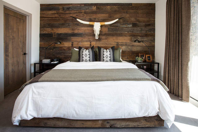 Modern Rustic Lodge | Victory Ranch | Park City - Rustic - Bedroom ...
