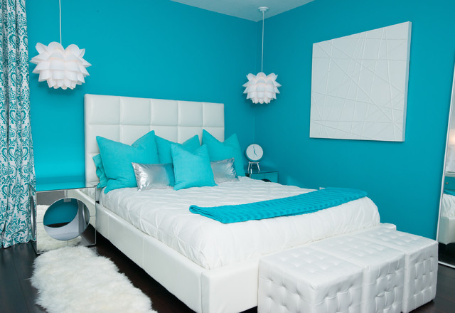 Modern teen girls bedroom modern bedroom new york by in two design - New york girls room ...
