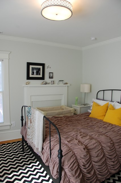 Modern Vintage Bedroom Eclectic Bedroom Raleigh By Four Over One Design