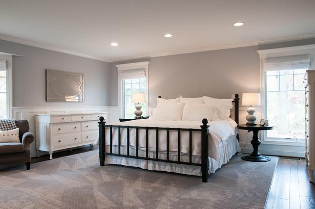 Modern White and Light Gray Master Bedroom modern-bedroom