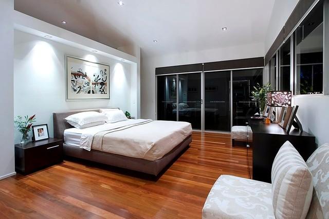modern white bedroom modern bedroom sydney by