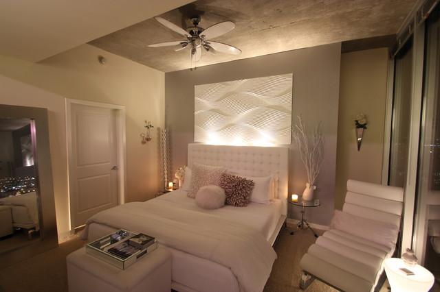 Modern White Bedroom Modern Bedroom Houston By Mauricio Nava Design Llc
