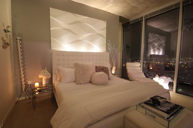 Modern White Bedroom modern-bedroom