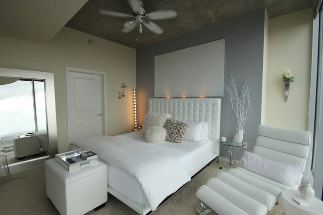 Modern White Bedroom Modern Bedroom Houston by Mauricio