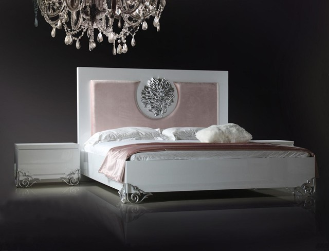 Modern White Lacquer Bed - Transitional - Bedroom - Los Angeles - by ...