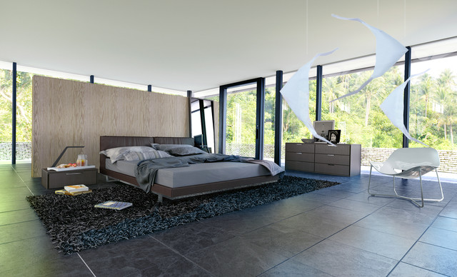 Modloft Broome Bedroom In Frank Lloyd Wright La Home Photoshoot Contemporary Los Angeles By
