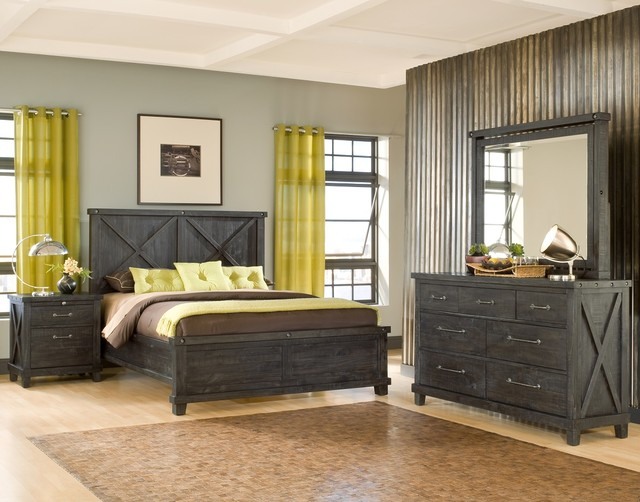 farmhouse bedroom furniture. Modus Furniture Yosemite Wood Bedroom Set farmhouse bedroom